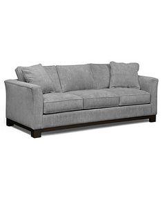 "Kenton Fabric Sofa, 88\""W X 38\""D X 33\""H: Custom Colors- SLATE"