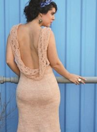 Step into the spotlight with this dramatic dress. This pattern is from Love of Knitting.