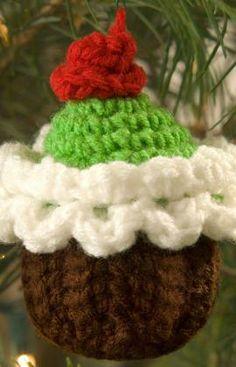 cupcake con patrón