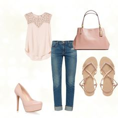 """""""Pretty Spring Nudes"""" by papillon312 on Polyvore"""
