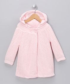 Take a look at this Pink Knit Cardigan - Infant by Tots Fifth Avenue on #zulily today!