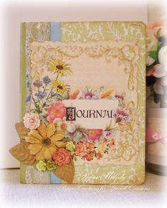 Flower Journal Cover by Melody Clement using Crafty Secrets Digital Garden Papers, Printables and Flower Garden Stamps