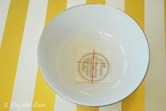 DIY Monogrammed Jewelry Bowls made with the Silhouette