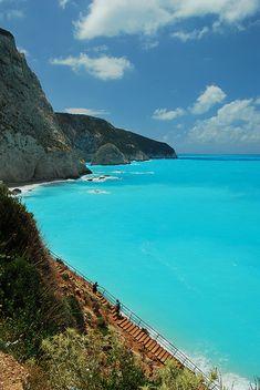 #PortoKatsiki Steps, #Lefkada island, #Greece #world #places #travel #europe #destination #journey #island #beach