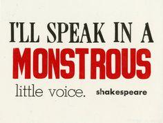 - Shakespeare