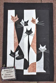 art quilt, family portraits, ann quilt, cat quilt, quilts cats, famili portrait, russian quilt