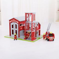 """""""Ding, Ding, Ding - to the Fire Truck!""""  Be the first person to get your hands on this NEW 'Red Hot' Fire Station Playset from Bigjigs Toys Ltd.  Head over to our FB page to have a chance to win: https://www.facebook.com/BigjigsToysLtd/posts/10151767378653649  Competition ends at midnight on the 6th October 2013. T&C's are available on our blog."""