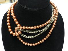 ANTHROPOLOGIE necklace. This is an interesting idea for pearls.