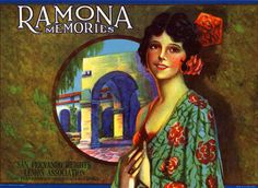 Ramona Memories Lemon Crate Label. San Fernando Heights Lemon Association, San Fernando/Los Angeles Co. California. San Fernando Valley Collection. San Fernando Valley History Digital Library.