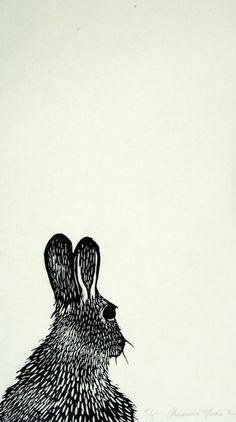 Rabbit lino