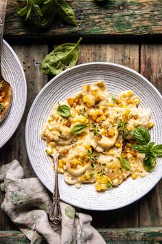 Browned Garlic Butter Creamed Corn Cheese Ravioli. - Half Baked Harvest