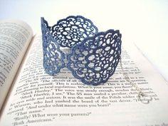 Blue Lace Bracelet Women accessories by bytugce on Etsy, $21.00