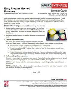 Easy Freezer Mashed Potatoes