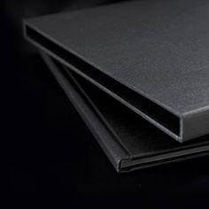 Elegant dark grey book slipcase _