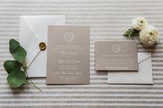 Foiled Invitations // Bianca Foiled Wedding Invitation // Foil, white, gray, floral, delicate, lovely invitation