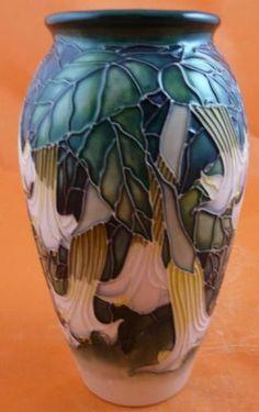 angles, trumpet vase, moorcroft angel, ceram art, angel trumpet, beauti thing, angels, trumpets, moorcroft potteri