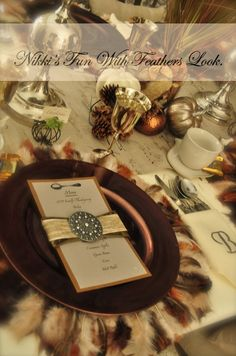 Here is my Thanksgiving tablescape.  Check out my blog and youtube channel for more details.