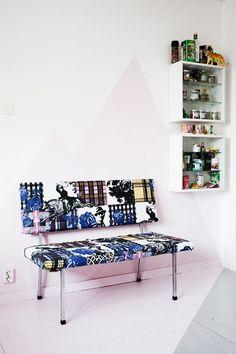 kitchens, interior design, decor, chair, idea, benches, kitchen seating, bench seat, prints