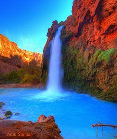Havasu falls swimming | Havasu Falls, USA