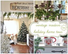 Jennifer Rizzo's holiday home tour with her vintage modern style @jen Rizzo