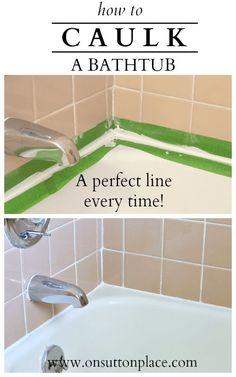 DIY Money Saving Home Repairs • Tutorials, including how to caulk a bathtub by 'On Sutton Place'!