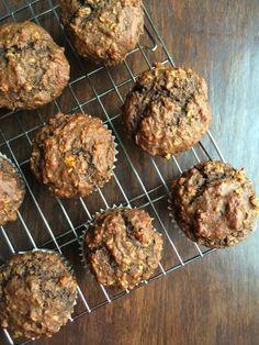 Chocolate Banana Oat Muffins