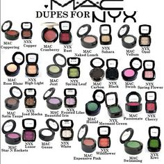 dupes for popular MAC eyeshadow - NYX (available at Ulta for only $4.99)