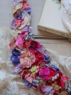 Lovely old millinery flowers!