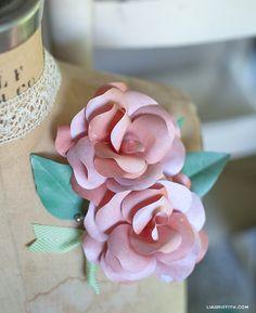 #Paper Rose Corsage. #diy #tut #tutorial #flowers