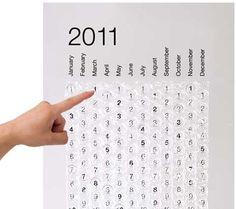 bubble wrap calendar, *pop*