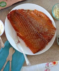 Smoked salmon in rum