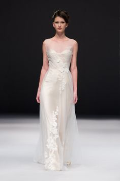 Invisible neckline Jenny Lee wedding dress: http://www.stylemepretty.com/2014/10/29/designer-spotlight-from-the-smp-look-book/