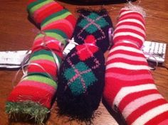 Valentine's Day calming deep pressure socks to hold, wrap or squeeze (ahhh!)