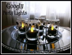Googly Party Lights Halloween Craft