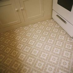 o remove worn vinyl or linoleum, run an old iron over the tiles. The heat melts the adhesive, so you can use a scraper to lift up the flooring Photo William Mebane/Photolibrary/Getty | thisoldhouse.com | from DIY Lessons From Mom