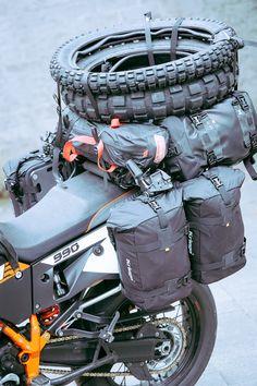 KTM 990 ready for a tough trip.