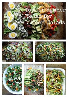 Top 10 Summer Salads #recipe #salad #dinner