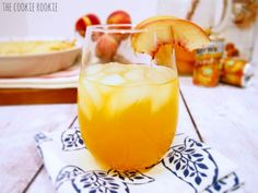 Peach Pie Sangria. Refreshing, fruity and easy!! Making this for #Easter {The Cookie Rookie}