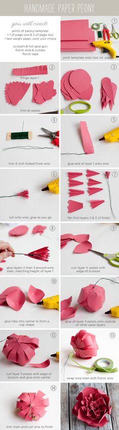 DIY Paper Peony