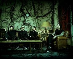 This is my favorite picture of my favorite band, AFI, a promo for their album Decemberunderground.