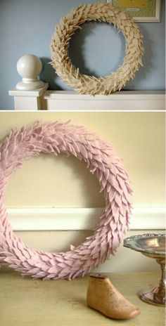 felted wool wreath via @Hersheyismybaby I have one and LOVE mine