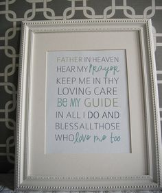 Bedtime Prayer..for Tenley and Jax's room