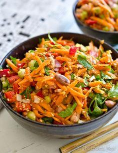 Crunchy Asian Salad. With crunchy Ramen noodles.