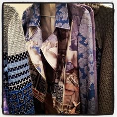 floral print leather