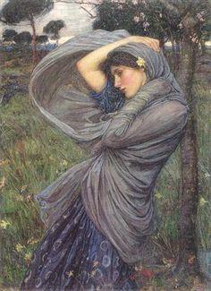 John William Waterhouse, Boreas (The Shawl)