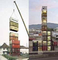 Compartmentalized building made from containers. So neat!