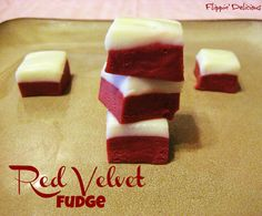 Red velvet fudge with a cream cheese frosting layer. chees frost, sweet, bake, food, recip, red velvet fudge, frost layer, dessert, cream cheese frosting