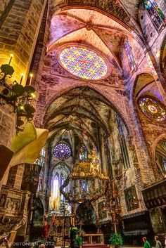 Cathedral of Palma, Mallorca, Spain ♥ ♥ www.paintingyouwithwords.com church, place