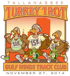 Registration for the 2014 Tallahassee Turkey Trot will open on July 4th.