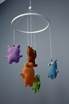 ugly doll mobile. OMG need this for my future little boys monster mobil, nurseri, little monsters